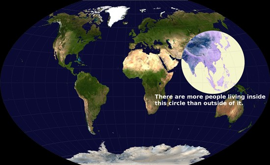 Half The World Lives in This Circle